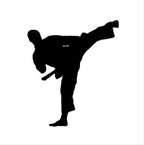 DECTN Kung Fu Taekwondo Auto Aufkleber Aufkleber Die Fenster Dekoration Karate Auto Aufkleber Und Decals12 * 14 cm Schwarz