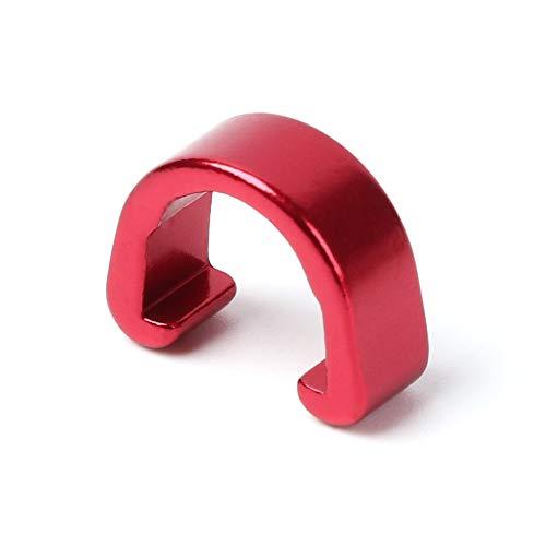 HLAA Cable De Freno De Bicicleta Abrazadera De Aluminio para Montar En Exteriores (20 Piezas) (Red)