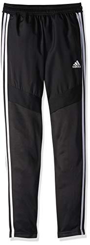 adidas Unisex child Tiro 19 Youth Warm-up Pants, Black/White, Medium