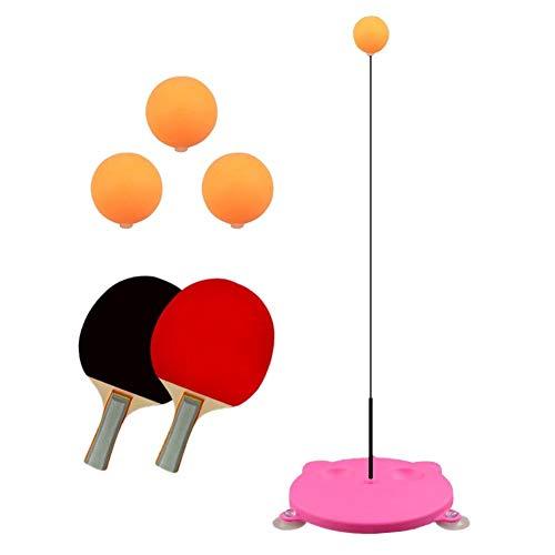 XHSM Ping Pong Mesa de Ping Pong Trainer elástico Suave, sin Mesa de Deportes Tiempo Libre descompresión Raqueta de Ping-Pong for Adultos Entrenamiento Conjunto Bola de la Aptitud