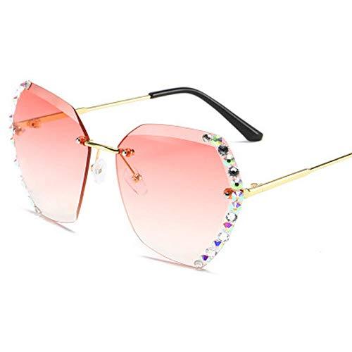 ZYIZEE Gafas de Sol Gafas de Sol sin Montura de Gran tamaño Vintage para Mujer Gafas de Conductor cuadradas para Mujer-C