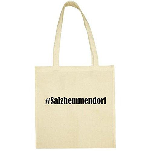 Tasche #Salzhemmendorf Größe 38x42 Farbe Natur Druck Schwarz