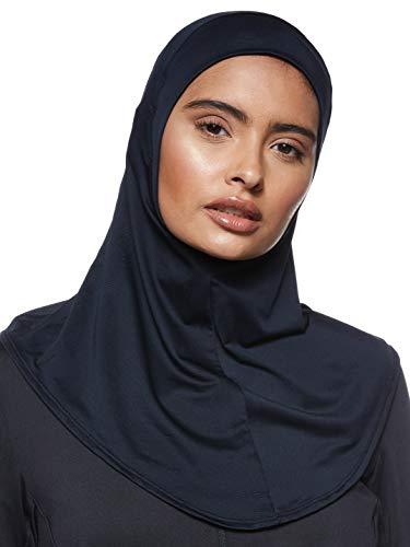 Under Armour Damen Sport Hijab Nackengamasche, Schwarz/Schwarz/Silber (001), XS-S