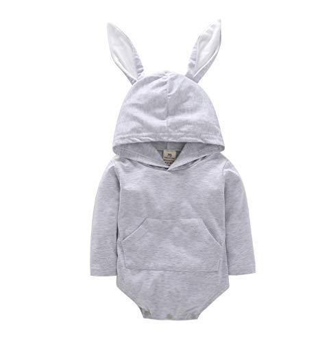 Lzxuan Ropa de bebé recién Nacido bebé bebé bebé bebé Conejo oído Sombrero con Capucha Pelele…