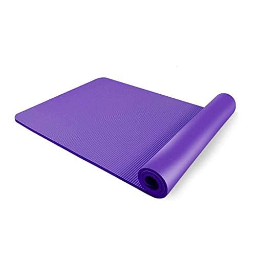 Alfombra de yoga espesor de extracción de extracción antideslizante con textura de alta densidad, superficie antideslizante para pilates gimnasia, estiramiento fitness con correa de transporte, yoga c