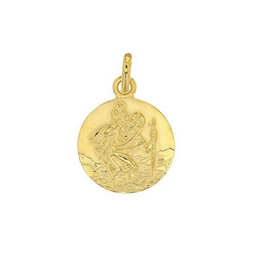 Jouailla - Médaille Ronde Saint-Christophe en plaqué Or (326