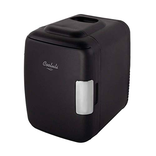cooluli-classic-black-4-liter-compact-cooler-warmer-mini-fridge-with-ac-dc-usb-power-great-for-bedroom-office-car-dorm-portable-makeup-skincare-fridge