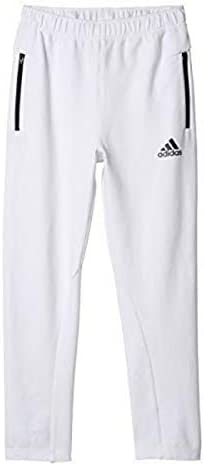 adidas Youth Zone Knit Pant White/Black Small