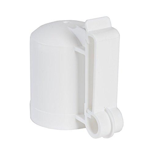 Zareba ITCPW-Z T-Post Safety Cap and Insulator, 10 per Bag,White