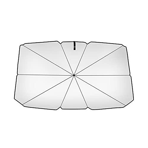 Parasol de Coche,Fesjoy Coche Vehículo Sombrilla Exterior Automático Tipo Paraguas Sombrilla a Prueba de Sol Plegable Cubierta de Coche de Verano Accesorio de Coche