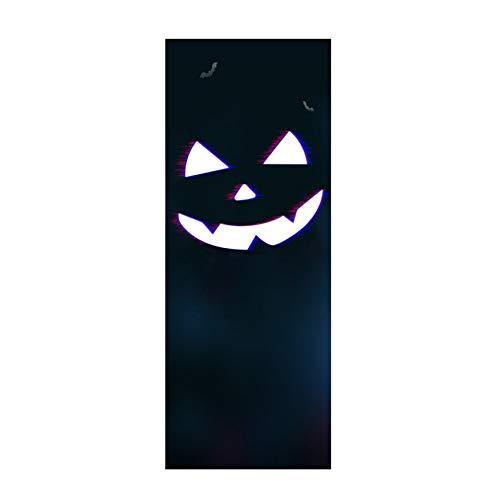 JGASHF nieuwe Halloween creatieve sticker raamsticker muursticker voor feest, pompoengesprekken, demping, heks slot, dooden, burg, geest 38.5x200cm C.