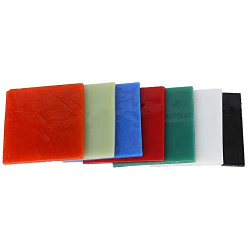 7 Farben Glasscheibe, Mosaikprojekte und Brennutensilien, Buntglasscheiben Scherben handgemachtes Dekorationswerkzeug