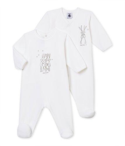 Petit Bateau SF Lot Dors Bien Grenouillère 2 Mixte bébé, Multicolore (Variante 1 98), 1 Month (Taille fabricant: 54 cm)