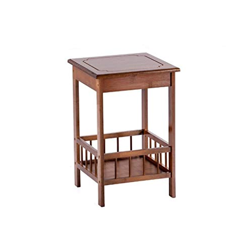 NYKK End Tables Natural Material Bamboo Side Table is Now Simple Bedside Table Living Room Corner Multi-Layer Organizer Easy Installation End Table Nightstand Set (Color : C)