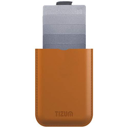 Tizum Z30 Slim Anti Theft RFID Credit Card Holder (Tan Brown)