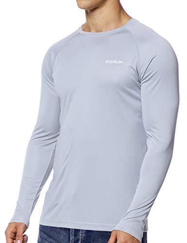 EZRUN Mens Sun Protection Swim Shirt Lightweight UV Sun Shirts Quick Dry UPF 50+ Fishing Shirts