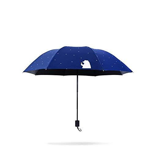 Paraguas paraguas plegable para las mujeres Viaje Compacto Plegable Sol Paraguas UV Protección para el sol a prueba de viento Pegamento negro Anti UV Recubrimiento Uvolla compacta de viaje impermeable