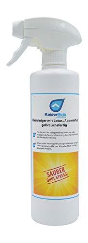 KaiserRein Glasreiniger mit Lotuseffekt (Abperleffelt) Spray 0,5L 500 ml Gebrauchsfertiger Scheiben-Reiniger