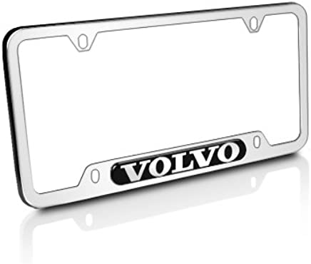 Volvo Logo Polished Stainless Steel License Plate Frame, Official Licensed
