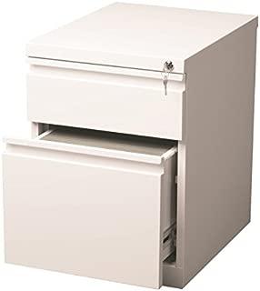 Scranton & Co 2 Drawer Mobile File Cabinet in White
