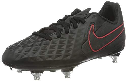 Nike Jr. Legend 8 Club SG Soccer Shoe, Black/Dark Smoke Grey-Chile Red-Chile Red, 36.5 EU
