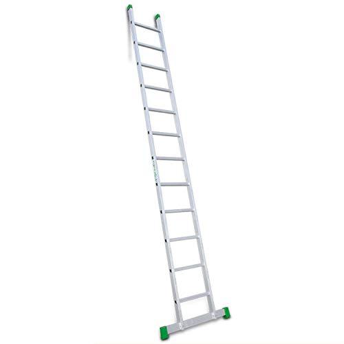 Escalibur | ES.SIMPLE | Escalera de Apoyo de 1 Tramo| Escalera 12 Peldaños | 363x42x8 cm | Utilizada en Trabajos de Bricolaje | Taco Antideslizante | Máxima seguridad y confort