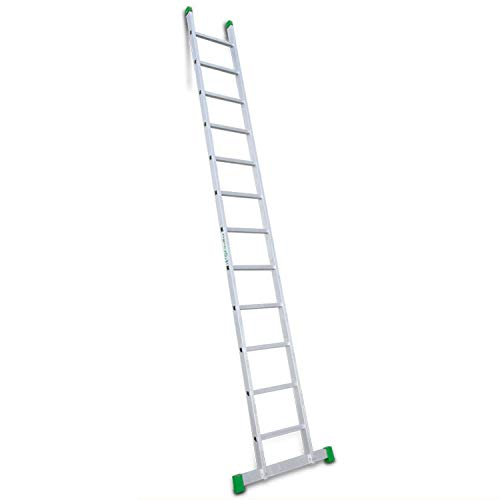 Escalibur | Escalera de Apoyo de 1 Tramo| Escalera 12 Peldaños | 363x42x8 cm | Utilizada en Trabajos de Bricolaje | Taco Antideslizante | Máxima seguridad y confort