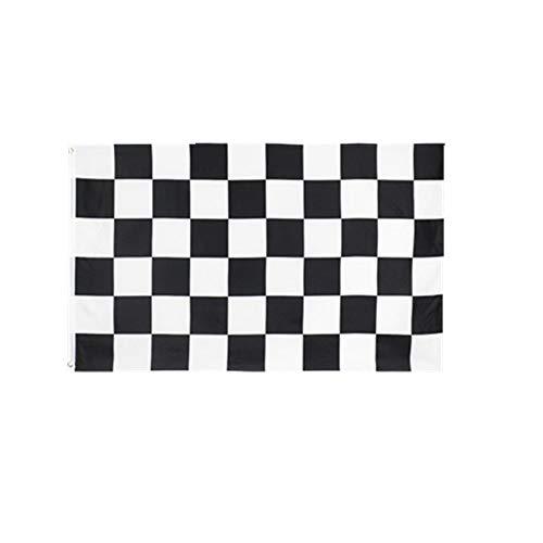 stormflag Checkered Flagges Schwarz und Weiß Flagge (90cmx150cm) Polyester Pongee 90g mit Ösen mit Doppelnadel genäht.