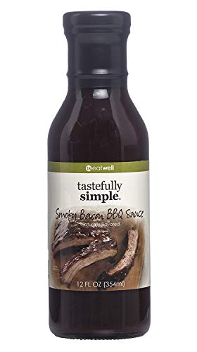 Tastefully Simple Smoky Bacon BBQ Sauce - Great on the grill for Burgers, Chops, Steaks, Ribs, Kabobs and Pulled Pork - 12 Fl oz