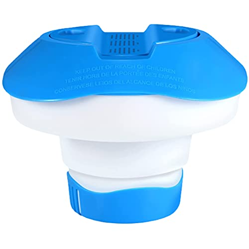 Vcedas Dispensador De Cloro Flotante,Soporte Automático para Tabletas De Cloro para Piscinas, Spas, Fuentes, Bañera De Hidromasaje, Piscina Y SPA