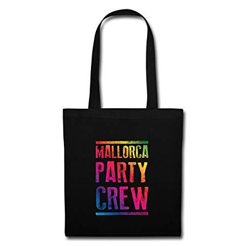 Spreadshirt Mallorca Party Crew Bunt Stoffbeutel, Schwarz