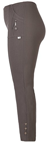 stylx Damenhose - leichte Thermohose - Stretchhose Winterhose Outdoor- Funktionshose Stretch Innenfutter aus Mikrofleece (grau, 48-50)