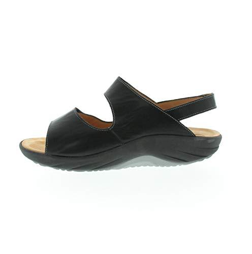 Helder heren sandaal Genda G zwart glad leer 1204050