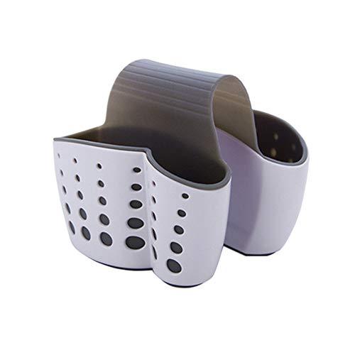 Fliyeong Premium Qualität Waschbecken Caddy Schwammhalter Seifenhalter, Kunststoff Sattel Wasserhahn Caddy Schreibtisch Organizer Halter