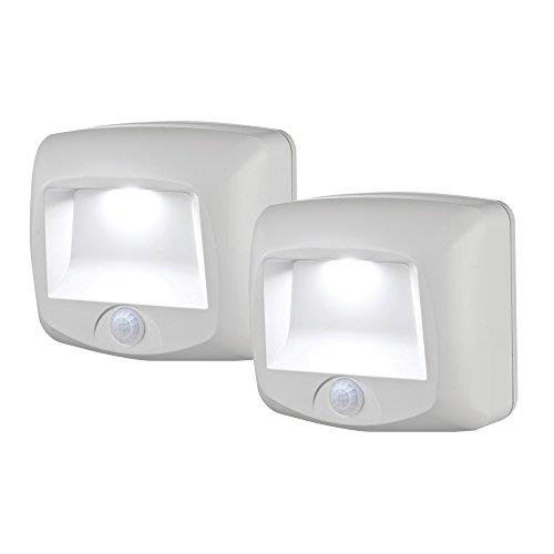 Mr. Beams MB532 Motion-Sensing LED Step/Stair Light, 2-Pack, White, 2 Count