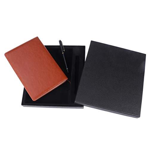 NUOBESTY Bloco de notas de couro recarregável, caderno, diário com caneta, capa vintage para viajantes, estudantes, professores, escritores, negócios