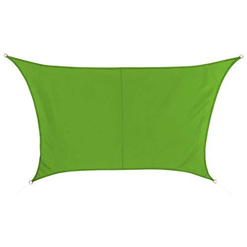 BB Sport Sonnensegel 4m / 5m x 3m Smaragd Trapez Wetterbeständig Wasserabweisend Sonnenschutz 100% PES Sichtschutz Windschutz UV Schutz Schattenspender