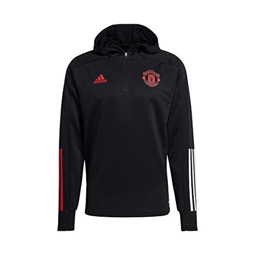 adidas Manchester United FC Track Hood 2020-2021, Sudadera, Black, Talla M