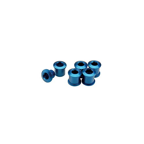 GIZA PRODUCTS(ギザプロダクツ) チェーンリング フィキシングボルト ブルー 7mm 5個 セット YCK00203