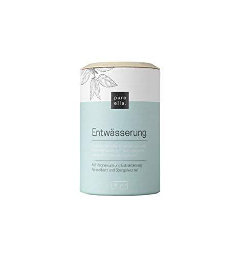 PURE ELLA ENTWÄSSERUNG, Vitalstoffkomplex für den Elektrolythaushalt, auch für Entwässerungskuren, mit Magnesium, Jod und Brennnessel, unterstützt den Gewichtsverlust (60 Kapseln)