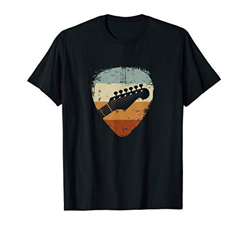 Gitarre Kopf Vintage Plectrum für Gitarrist T-Shirt