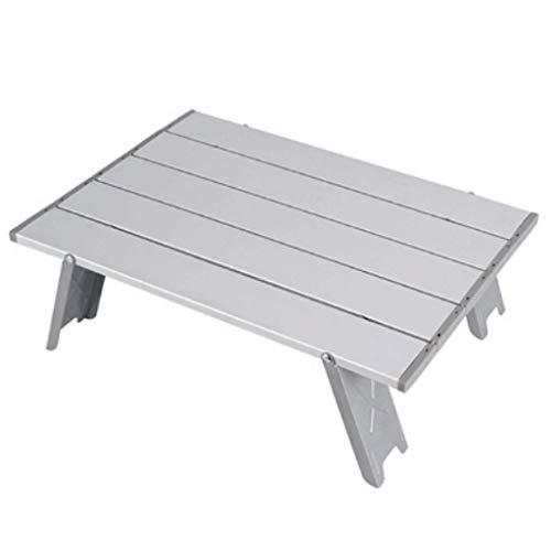 Mesa de centro, mesa auxiliar, mesa plegable para exteriores, mini mesa plegable para tienda de campaña, mesa para acampar, portátil, cama para el hogar, mesa para computadora, mesa de aluminio (plat