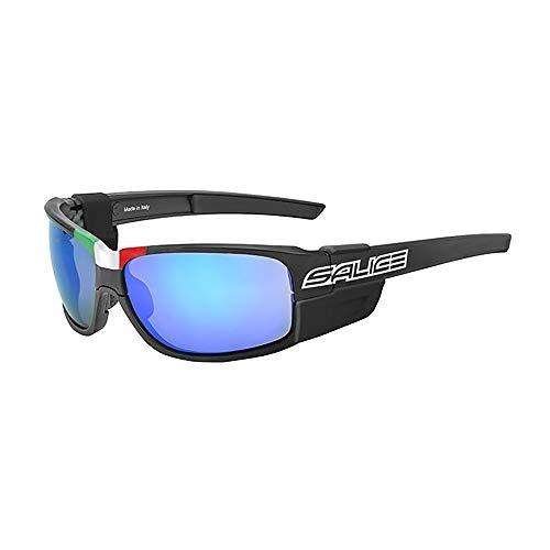 Salice Unisex-Brille für Erwachsene, Schwarz/RW, Blau, Spiegel, Cat. Clear Lenses, einzigartig