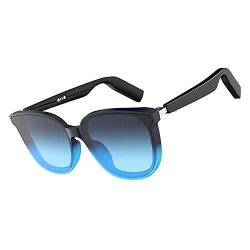 Drahtlose Bluetooth-Sonnenbrille Stereo-Headset Digitale Brille mit Musik-MP3-Player, geeignet für Smartphones & alle Geräte mit Bluetooth (Blue,14.7 * 5cm)