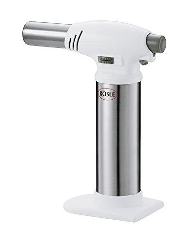 RÖSLE Flambierbrenner, Edelstahl 18/10, 16,5 cm, stufenlose Flammenregulierung (bis 1.300 °C), Profiqualität