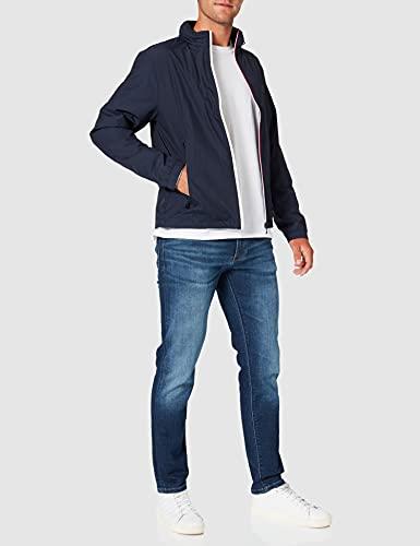 Tommy Hilfiger Red White Zip Jacket Chaqueta, Azul (Navy Blazer 416), Medium para Hombre