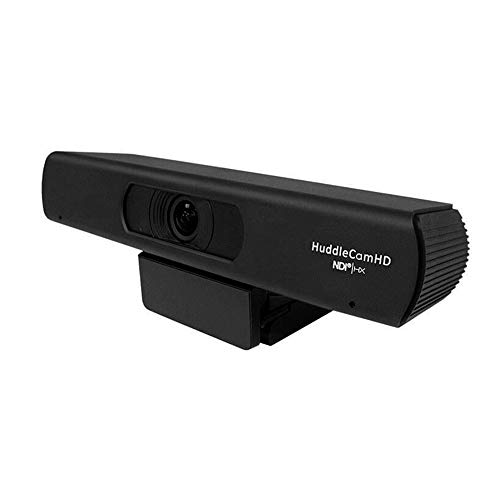 HuddleCamHD 3X Digital Zoom NDIHX IP Dual Microphone Array: HFOV Auto-Framing (Black)