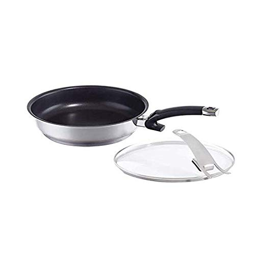 Fissler protect steelux premium Fry-Pan Set Non-Stick Stainless-Steel Induction, 11-Inch, Black
