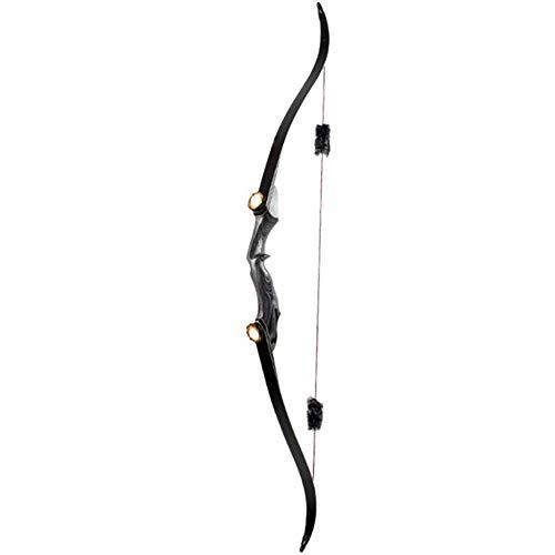 Recurve Bögen für Erwachsene, Jagd Bogenschießen im Freien Split Recurve Bogen, laminiertes Bogenstück, 18-Strang Bowstring Bogen und Pfeil