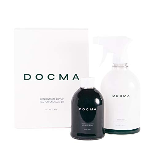 DOCMA Concentrate & Spray All-Purpose Household Cleaner, Non-Toxic Multi-Surface Enzyme Based with Fresh Scent, Makes 1 Gallon